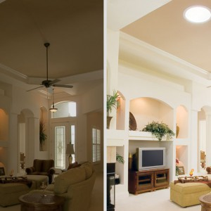 Liven up your living area with flattering natural light.