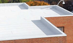 Flintlastic SA commercial flat roof installation