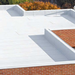 Commercial flat roof using the Flintlastic system