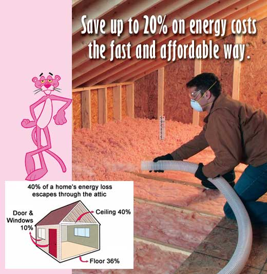 Ed Senez Roofing offer Owens-Corning AttiCat attic insulation