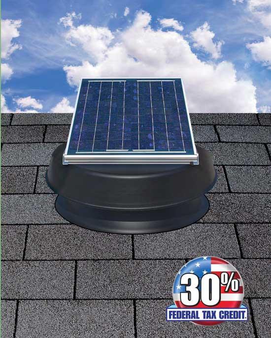 Sky-Flex solar attic fan