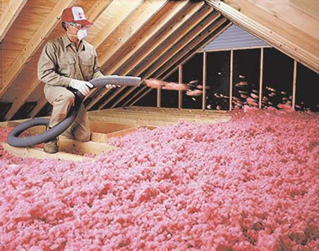 Owens-Corning blown-in attic insulation by Ed Senez Roofing