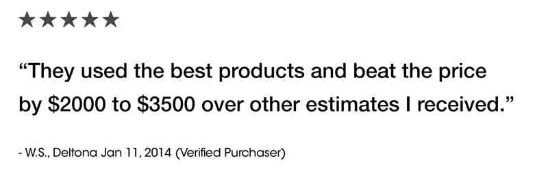 Deltona Florida customer review.